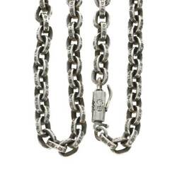 Chrome Hearts/chrome Hearts Size 24inch Paper Chain 24/paper Silver Necklace