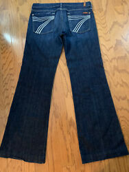 7 For All Mankind Dojo Jeans Size 31 - Dark Wash Stretch - Mint Condition