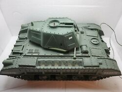 Vintage 60s Reading Deluxe Tiger Joe Battery Op Tank Military Toy Parts / Repair
