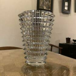 Gm5a Baccarat Crystal Glass Flower Base Vase Height 23.5 Cm Weight 4.6 Kg