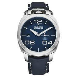 Anonimo Menand039s Military Blue Dial Blue Strap Automatic Watch Am-1020.01.003.a03