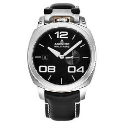 Anonimo Menand039s Military Black Dial Black Strap Automatic Watch Am-1020.01.001.a01