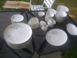 New With Box Noritake Ivory Fine China Set 82 Pieces Rosalind Made In Japan