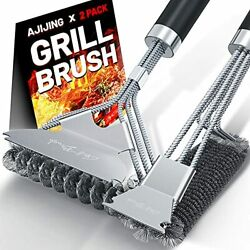 Ajijing Grill Brush And Scraper2 Pack Bbq Grill Cleaning Brush 18 Stainless ...