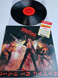 Judas Priest Signed Autogrammautographed Unleashed In The East -lp In 1988