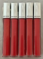 Lot Of 5 New Revlon Ultra Hd Lip Lacquer Lip Gloss 535 Strawberry Topaz As Is