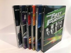 Fast And Furious 1-6 Blu-ray/dvd Combo Steelbook Collection W/ Digital Copies