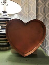 Martha Stewart Martha By Mail Copper Heart Shaped Tray Very Rare Must See