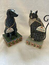 Jim Shore Black Lab And Black Cat Figurine - Selling As A Set