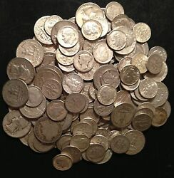 3+1/2 Troy Pound Lb Bag Mixed 90 Silver Coin U.s. Mint Pre 1965 One Lot 1