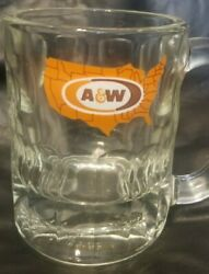 4 A And W Root Beer Us Map Mugs Logo Collector Mug Heavy Free Shipping