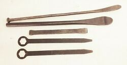 Vtg Antique Auto Car Truck Tractor Tire Iron Changer Spoon Pry Bar Tool Lot