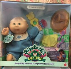 Nib Cpk Rare Boy Doll Cabbage Patch Kid's Baby Giftset W Pacifier Carrier Etc