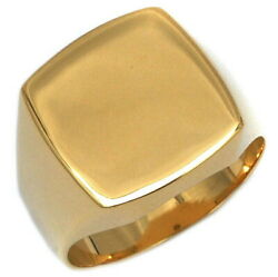 Stamp Stand Ring Yg Yellow Gold New Finished Ring K18 750 S Rank Gold Precious