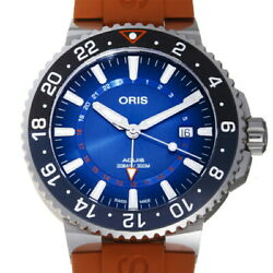 Oris Aquis Charis Fort Reef Gmt World Limited 2000 Menand39s Watch