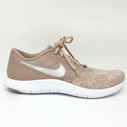 Nike Womens Flex Contact 908995-102 Beige Running Shoes Sneakers Size 11