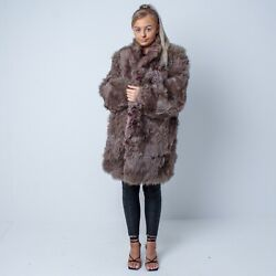 Vintage Unusual Fluffy Grey Tones Fur Jacket / Coat. Approx Chest Size 43andrdquo