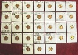 Bu 26 Different Error/variety Cents Great Value -- Nice Buy It Now No Reserve