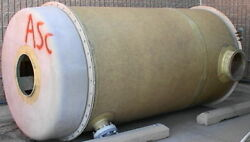 5'by9' Fiberglass Chemical Strainer Tank Open One End