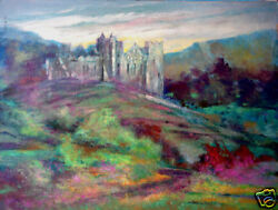 European Castle Colorful Rolling Summer Hills 30x40 in.Acrylic  Hall Groat Sr.