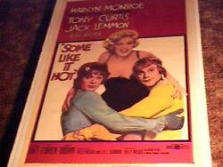 Some Like It Hot Movie Poster And03959 Marilyn Monroe Linen