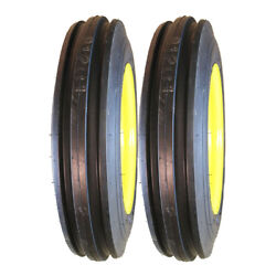 Two 4.00-12 John Deere Tractor Pulling Front Tires And Wheels Rims Kit-m