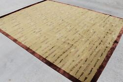 Rsg27186 Exclusive Wool And Silk Hand Crafted Tibetan Rug 8' X 10' Made In Nepal