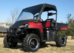 Vinyl Windshield And Roof For Polaris Ranger Xp - Puncture Proof - Soft Acrylic