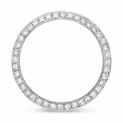 36mm 2ct Pave Bead Set Diamond Bezel 14kw For Rolex Datejust President Day Date