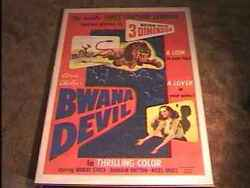 Bwana Devil 3d 1953 Movie Poster First 3d Movie