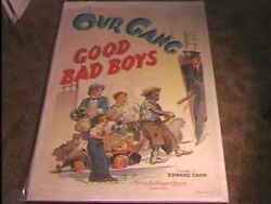 Good Bad Boys 1940 Movie Poster Our Gang Linen