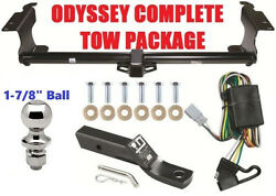 Trailer Hitch Fits 1999-2004 Honda Odyssey Tow Package 2 Receiver - 1-7/8 Ball