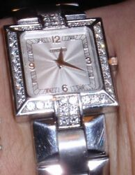 Concord La Scala 18k White Gold Diamond Watch Used