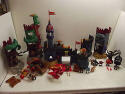 Fisher Price Imaginext Castle Goblins Dungeon Lost Fortress Wagon Dragon Lot +++