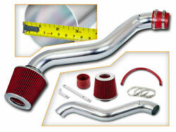 Short Ram Air Intake Kit + Red Filter For 98-02 Accord / 97-01 Prelude 2.2l 2.3l