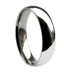 8mm 18ct White Gold Heavy Court Comfort Fit Wedding Rings 14.4g 750 Uk Hm Bands