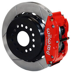Wilwood Disc Brake Kit,rear Parking,small Ford,2.50 Off,13 Rotors,red Calipers