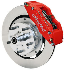 Wilwood Disc Brake Kitfront65-69 Fordmercury12 Rotors6 Piston Red Calipers