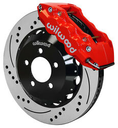 Wilwood Disc Brake Kitfront05-11 Charger30014 Drilled Rotorsred Calipers