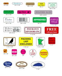 Custom Printed Labels 5000 Small Rectangle Round Square Oval Business Stickers