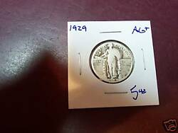1929 Ag+ Standing Liberty Quarter From Small Hoard