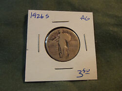 1926s Ag Silver Standing Liberty Quarter From Old Collection, 1926 S 1926-s