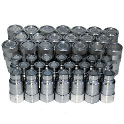 20 Sets Of 1/2 Flush-face Skid-steer Hydraulic Hose Quick Disconnect Couplers