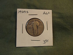1929s Ag+ Silver Standing Liberty Quarter From Old Collection 1929 S 1929-s