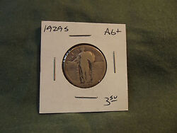 1929s Ag+ Silver Standing Liberty Quarter From Old Collection, 1929 S 1929-s