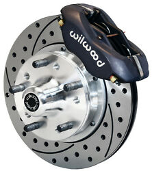 Wilwood Disc Brake Kitfront70-78 Gm11 Drilled Rotorsblack Caliperschevy