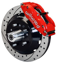 Wilwood Disc Brake Kitfront70-78 Gm13 Drilled Rotors6 Piston Red Calipers