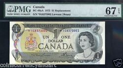 1973 1 Bank Of Canada Asterisk Replacement Ig Pmg 67