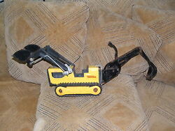Collectibletonka Hasboro Bulldozer Backhoe Front Loader Trencher With Bucket T-6
