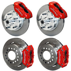 Wilwood Disc Brake Kit60-72 Cdp A-body W/9 Drumsred Calipers11w/ Pb Cable